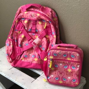 Pottery Barn backpack and lunch set